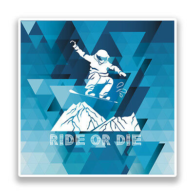 2 x Snowboarding Vinyl Stickers Extreme Thrill Seeker Travel Mountains #7587
