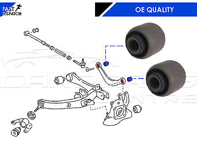 For Toyota Avensis 03-08 2 Rear Upper Top Curved Wishbone Arm Bushes (Pair)