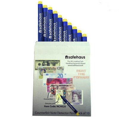Compact Pro NCH035 Counterfeit Money Fake Bank Note Detector Pens Pack of 10