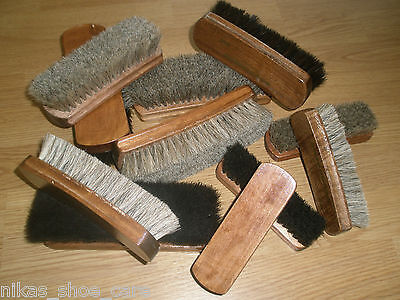 new DM Horse Hair Shoe/Boot Brush black or grey, 3 different sizes