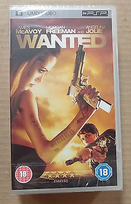 Wanted  (New & Sealed)(Sony PSP UMD Video)   Free  Postage