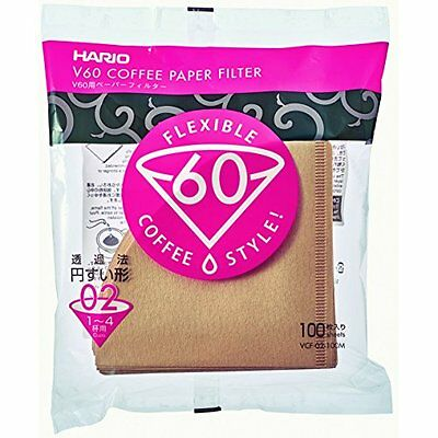 New Hario Coffee Paper Filter V60 VCF-02-100M 100 sheets Import Japan