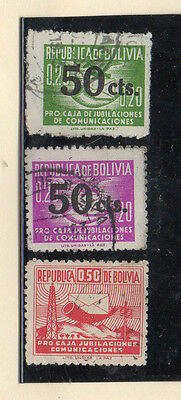 Bolivia Beneficencia Valores del año 1953-55 (CT-383)