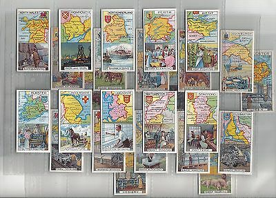 Counties & Their Industries.Issued by Players 1914.Full set of 25 in sleeves.
