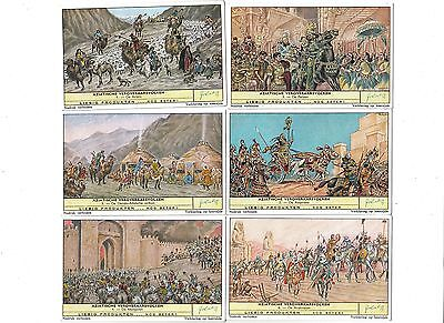 The Conquering Races of Asia.Liebig set F1737.Issued 1960.Full set of 6.