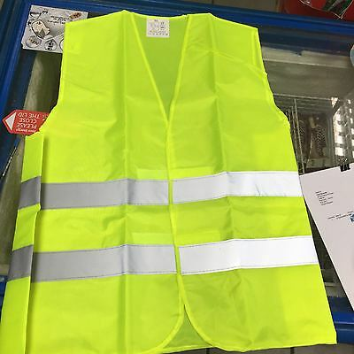 """ Safty Vest  Yellow High Visibility Waistcoat With Grey Reflective Strips XL """
