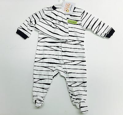 Newborn Just One You Carter's Halloween Mummy  Footed Outfiit with Hat  2-Piece