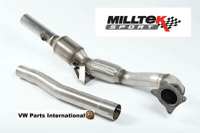 Audi TT MK2 TTS Quattro Milltek Large Bore Downpipe High Flow Sports Cat 2.75""
