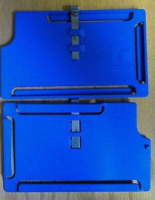 "Lot Of 50 Tecniplast Cage Data Card Holder W/Hook  3"" X 5"" Side Load Excellent"