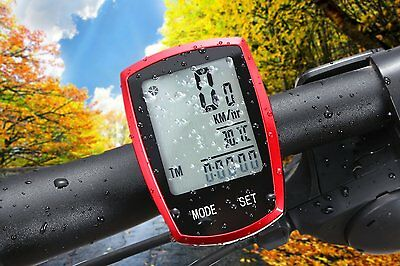 Wireless Bicycle computer Tenswall Waterproof Bike Speedometer Odometer LCD B...