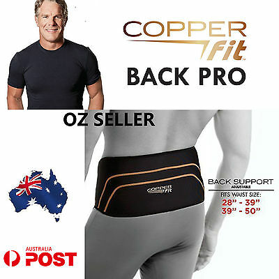 Copper Fit Back Pro copper Infused lower Lumbar compression belt Wrap  Gel Pack