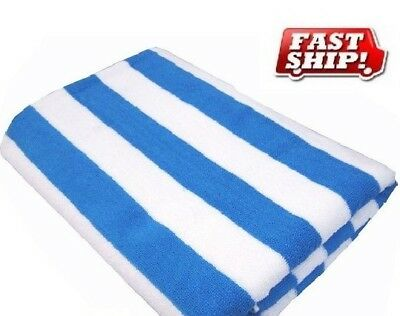 e0c4dca6f8f 1 new white blue stripe cotton 30x60 cabana towels pool towel beach pool  towels