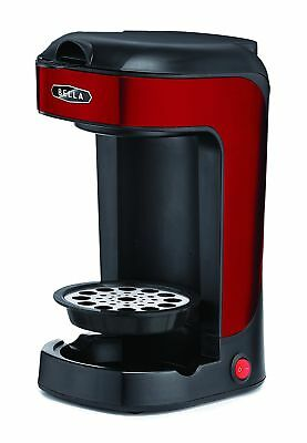 Bella BLA14485 One Scoop One Cup Coffee Maker Red and Stainless Steel