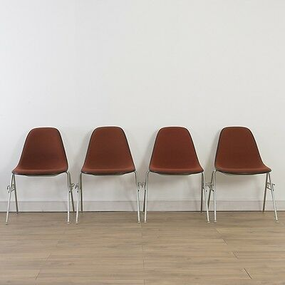 4 x (Set) Herman Miller Vintage Original Eames Orange Side Chairs Base Choice