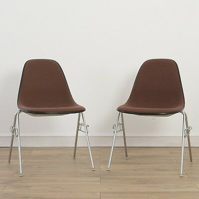2 x (Pair) Herman Miller Vintage Original Eames Peach Side Chairs On Base Choice
