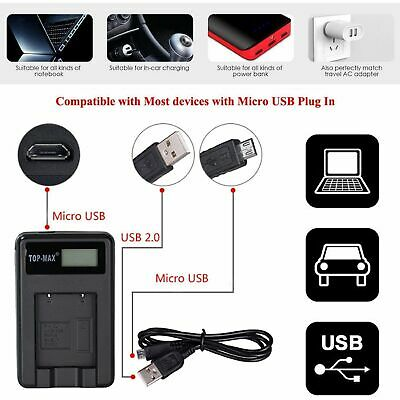 Camera battery charger Li70B & USB cable Olympus X940  VR120 VR130 VR140 cameras