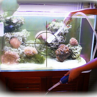Aquarium Clean Vacuum Water Change Gravel Cleaner Fish Tank Siphon Pump FG