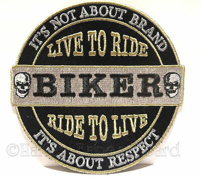 Embroidered Iron Or Sew On Cloth Biker Vest Patch ~ It's Not About A Brand...~