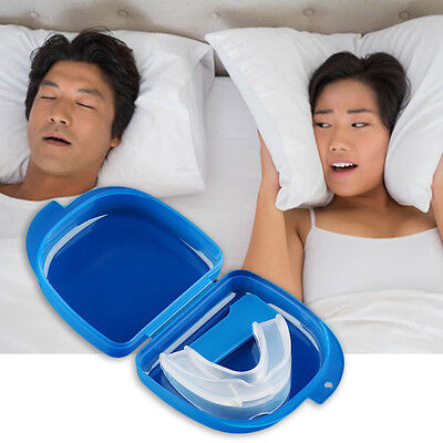 Mouth Guard Stop Teeth Grinding Anti Snoring Bruxism with Case Box Sleep Aid FG