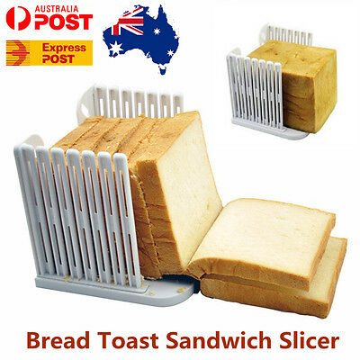 Bread Toast Sandwich Slicer Cutter Mold Maker Kitchen Guide Slicing Tools AU