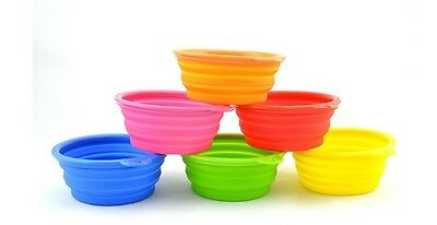 Pet Dog Portable Silicone Collapsible Travel Feeding Bowl Water Dish Feeder Cat