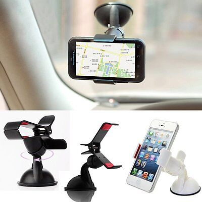 Universal 360° Rotation Car Windshield Mount Stand Holder For GPS Cell Phone AU2