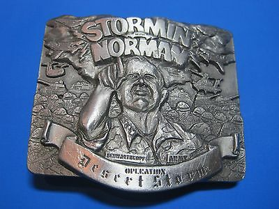 Vintage NOS Stormin Norman Operation Desert Storm Limited Edition Buckle 1991