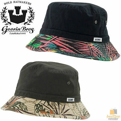 GOORIN BROTHERS Spano Glory 100% Cotton Bucket Hat Cap Bros 605-0001 Hawaiian