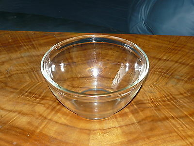Vintage 1930s 40s 50s small size glass mixing bowl ~ Retro bowl