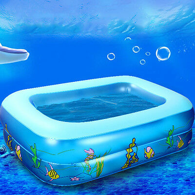 Kid Baby's Underwater Printed Inflatable Aerated Square Newborn's Swimming Pool