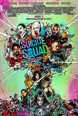 SUICIDE SQUAD MOVIE POSTER Orig. 27x40 DS Rated HARLEY QUINN WILL SMITH