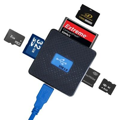 All in 1 USB 3.0 High Speed Micro SD TF CF XD M2 MS Multi Memory Card Reader