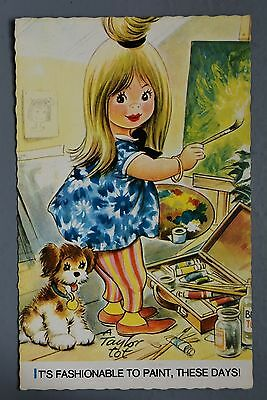 R&L Postcard: Bamforth Taylor Tot, K306 Girl Artist Painter