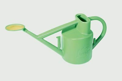 Haws 6L Litre Practican Plastic Watering Can Plus Brass Rose - Sage