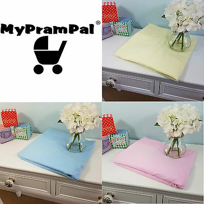 My Pram Pal® JERSEY FITTED SHEET COTTON MOSES BASKET CRIB COT BED TODDLER