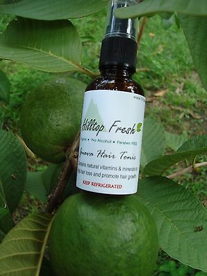 Hair loss treatment -Organic guava leaves extract -1 oz -No Side Effects