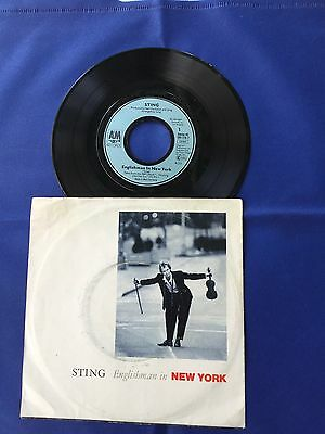 """Sting - Englishman In New York / Ghost In The Strand 7"""" 45rpm Ger VG/VG+"""