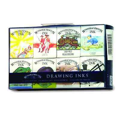 Winsor & Newton Drawing Ink Water Soluble Dyes Set Of 8 William Collection
