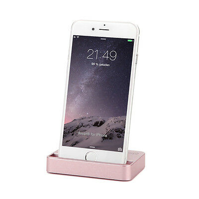 dockingstation iphone 8 7 6 6s plus 5 5c 5s se ipod lade daten sync rosegold