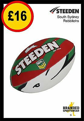 Steeden South Sydney Rabbitohs NRL Team Supporter Ball Size 5 NEW