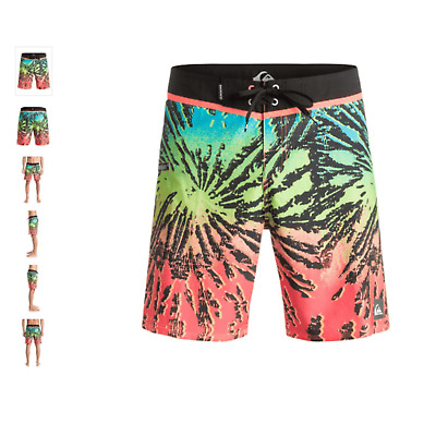 Quiksilver Glitched 18'' Fiery Coral Ss 2016 Costume New 32 33 34 36 Surf Skate