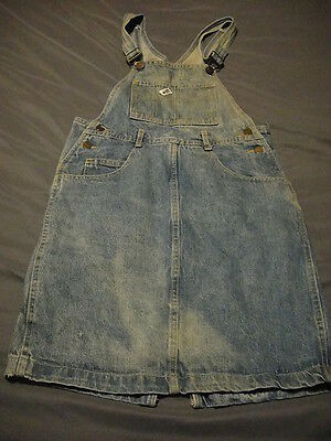 GUESS JEANS Denim Bib Overalls SKIRT Blue DENIM VTG 1980s SM Marciano USA MADE