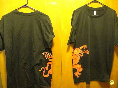 FIREBALL CINNAMON WHISKY ~ Large ~ NEW ~ Fire Breathing Dragon Promo T Shirt