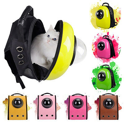 Outdoor Travel Capsule Cat Dog Pet Backpack Breathable Transparent cover Bag New