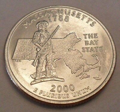 2000 D Massachusetts State Quarter  **FREE SHIPPING**