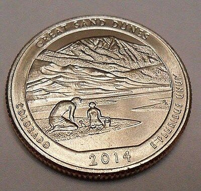 2014 D Great Sand Dunes National Park Quarter  **free Shipping**