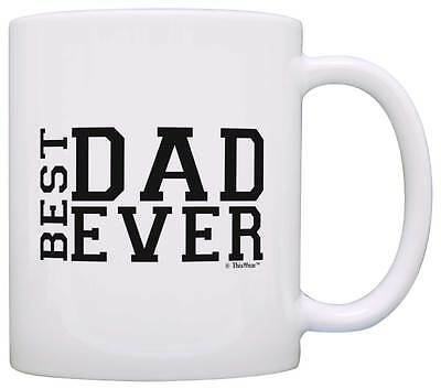Fathers Day Gift Best Dad Ever Ideas Birthday Coffee Mug Tea Cup