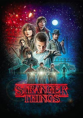 Stranger Things TV Show Wall Art Giant Poster Print A0 A1 A2 A3 A4