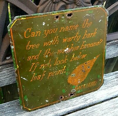 Victorian 19thC Botanical Garden Hand Painted Educational Plaque