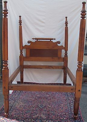 """82"""" Tall 18Th Century Federal Period Tiger Maple Four Poster Bed-Our Very Best!"""